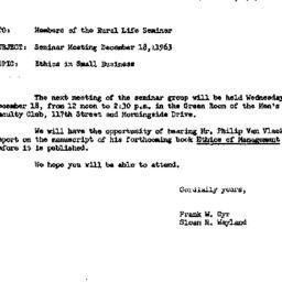 Announcements, 1963-12-16. ...