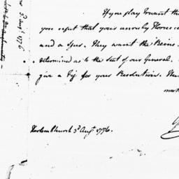 Document, 1776 August 03