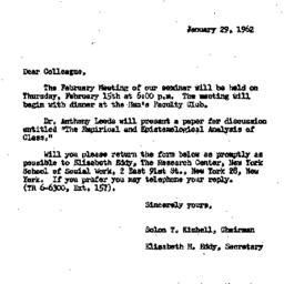 Correspondence, 1962-01-29....