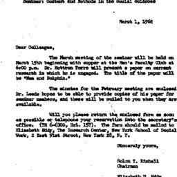 Correspondence, 1962-03-01....