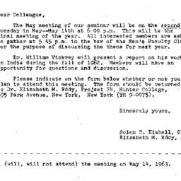 Correspondence, 1963-04-22....