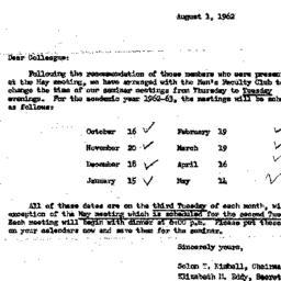 Correspondence, 1963-08-01....