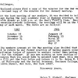 Correspondence, 1965-06-07....