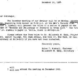 Correspondence, 1964-12-10....