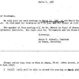 Correspondence, 1966-03-04....