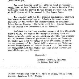 Correspondence, 1967-03-05....