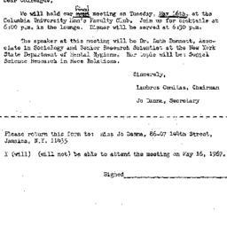 Correspondence, 1967-05-01....