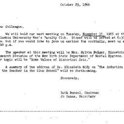 Correspondence, 1966-10-29....