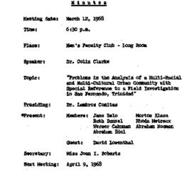 Minutes, 1968-03-12. Conten...