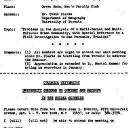 Announcements, 1968-03-23. ...