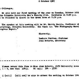 Correspondence, 1967-10-02....