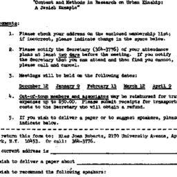 Announcements, 1967-11-14. ...