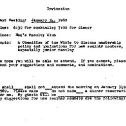 Announcements, 1969-01-14. ...