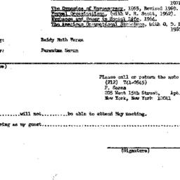 Announcements, 1971-05-26. ...