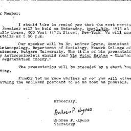 Correspondence, 1975-03-26....