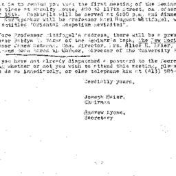 Announcements, 1976-09-15. ...