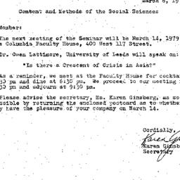Correspondence, 1979-03-08....