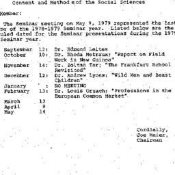 Correspondence, 1979-05-24....