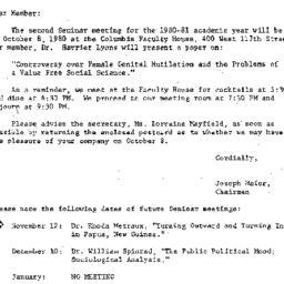 Correspondence, 1980-10-01....