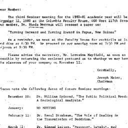 Correspondence, 1980-10-28....