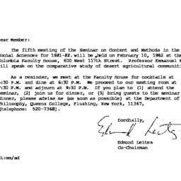Correspondence, 1982-01-07....