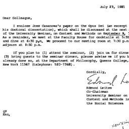 Announcements, 1981-09-09. ...