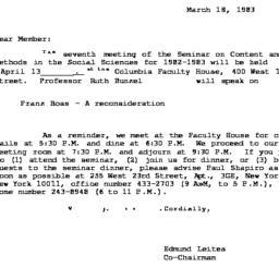 Correspondence, 1983-03-18....