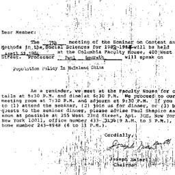 Correspondence, 1984-03-14....