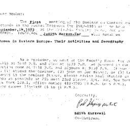 Announcements, 1983-09-14. ...