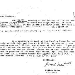 Correspondence, 1985-02-12....