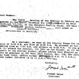 Correspondence, 1985-10-09....