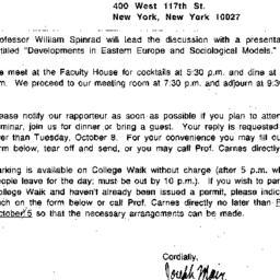 Announcements, 1990-10-10. ...