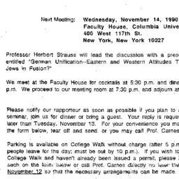 Announcements, 1990-11-14. ...