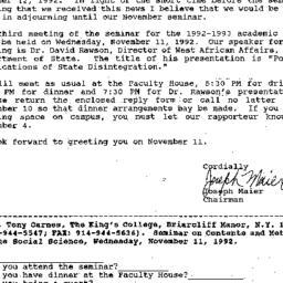 Correspondence, 1992-10-05....