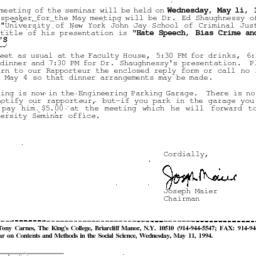Correspondence, 1994-04-29....