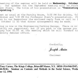 Correspondence, 1994-10-06....