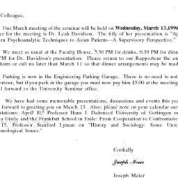 Correspondence, 1996-02-26....