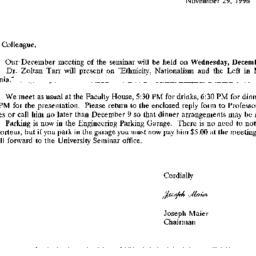 Correspondence, 1996-11-29....
