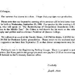 Correspondence, 1998-09-04....