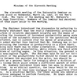 Minutes, 1952-03-19. Labor,...