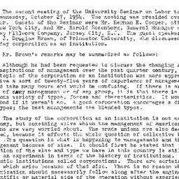 Minutes, 1954-10-27. Labor,...