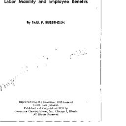 Related publication, Labor,...