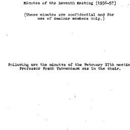 Minutes, 1957-02-27. Labor,...
