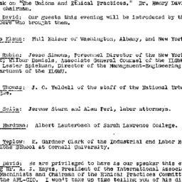 Minutes, 1957-04-17. Labor,...
