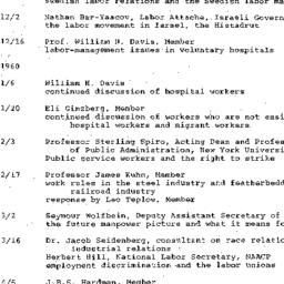 Schedules, Labor, seminar 4...