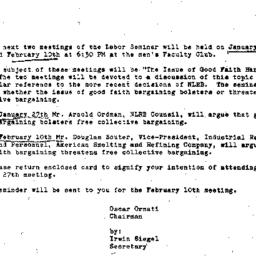 Announcements, 1965-01-27. ...