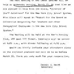 Announcements, 1966-03-23. ...
