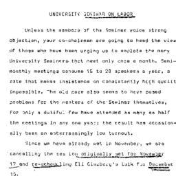 Announcements, 1965-12-01. ...