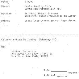 Announcements, 1969-02-26. ...