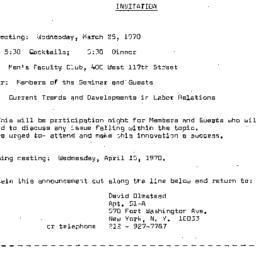 Announcements, 1970-03-25. ...